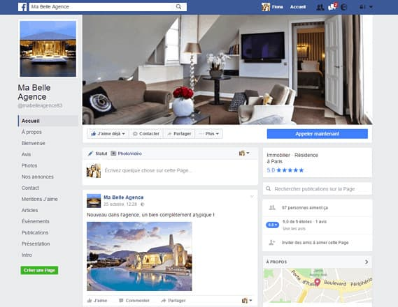 Créer une page Facebook professionnelle